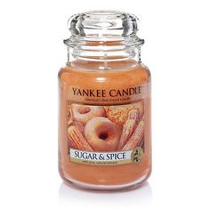 Large Jar Candle: Sugar & Spice at Yankee Candle Co. This smells amazing! Must grab one for fall.