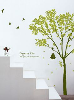 Bird Wall Decals | Birds & Evergreen Tree Wall Decals Bird Wall Decals, Evergreen Trees, Tree Wall, Where The Heart Is, Wall Decor, Birds, Home Decor, Plants, Flowers