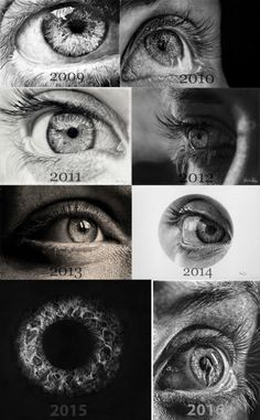 I've been doing on eye drawing every year for the last 8 years.