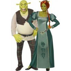 Ik vond dit op Beslist.nl: Kostuum voor een koppel: Shrek en Fiona™}
