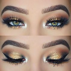 Gorgeous gold colors for a night party!!!