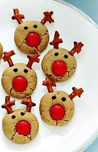 Peanut Butter Rudolph Reindeer Cookies--I think I can even do these with ultimate success
