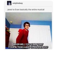 Does this remind you of 21 Chump Street, or is it just me?>>these kids need to learn that there are consequences in life. Theatre Nerds, Musical Theatre, Waitress Musical, Broadway Theatre, Dear Evan Hansen Musical, Dear Evan Hansen Funny, Querido Evan Hansen, 21 Chump Street, Will Roland
