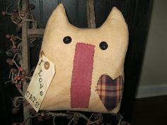 Cat Pillow - Cat Shelf Sitter - Cat Decoration by LoveAndStitchesToYou on Etsy