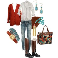 Fossil, created by shawnee-rae on Polyvore--- this is so cute