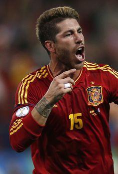 Sergio Ramos delantero de la seleccion española de futbol