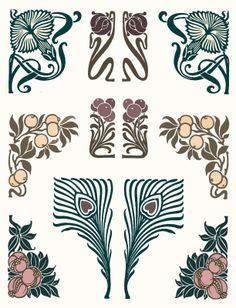 Resultado de imagen de motivos art nouveau