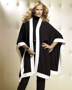 Love capes and the bonus is that it's in white and black...