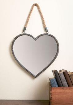 Revered Residence Wall Mirror. With this heart-shaped mirror ornamenting your wall, your space becomes amour than just a house - its a lovable home! #multi #wedding #modcloth