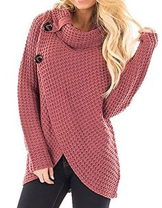 Inorin Womens Casual Cowl Neck Wrap Long Sleeve Chunky Knit Sweater  Pullover Jumper Oversized Sweater Outfit 78a845958