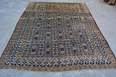 ANTIQUE Afghan Taimani Sistaan Baluch Rug Unique Antique Afghan Rug 7'1 x 8'11 #Afghan