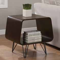 Adore this end table! Might be good for between our two cushy reading chairs.