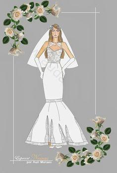 Auriele (desenhos de Moda): Vestidos de Noiva