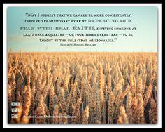 M. Russell Ballard -- Replace fear with FAITH! #LDSConf #LDS #MormonWomenStand