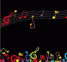 Wallpaper de notas musicales de colores - Cerca amb Google