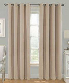 """Awad Home Fashion 2 Piece Solid THERMAL BLACKOUT Grommet Window Panel Curtain Drapes 55""""W x 63""""L, Taupe"""