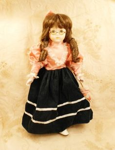 heritage collection doll | Doll Heritage Mint Ltd America Porcelain Doll Pink Green Dress Vintage