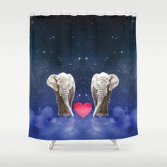 #society6 #showercurtain #elephants #love #sky