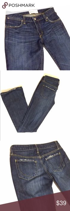 "listing Paper Denim and Cloth size 27 jeans Paper Denim and Cloth 2-MOD-1 jeans size 27.  97% cotton 3% Lycra. Inseam 33"" leg opening 9"". Stitching is missing on part of rear pocket as in photo#4- not very noticeable when on. Paper Denim & Cloth Jeans Boot Cut"