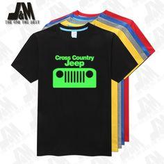 Cross Country  Jeeps Classic  Fashion Tees Men T Shirt Top Brand Men's Shirts Glow T-shirt 5 Colors S-6XL #Affiliate