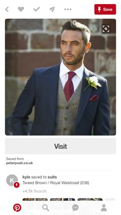 150 best groomsman poses for your wedding. Navy and burgundy wedding colors. Navy and burgundy groom suit inspiration. Groom suit with vest. Wedding Men, Dream Wedding, Trendy Wedding, Wedding Ideas, Mens Wedding Suits Navy, Mens Suits, Men Wedding Attire, Blue Suit Wedding, Wedding Planning