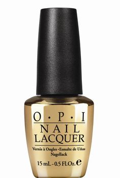"Gold is a recurring theme for our favorite MI6 agent, and it's the theme behind OPI's new commemorative color, ""Man With the Golden Gun,"" issued as part of an entire color collection inspired by Skyfall."