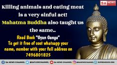 Killing animals and eating their meat is a sinful act. buddha quotes happiness positivity inspiration truths buddha quotes happiness positivity life buddha quotes happiness positivity so true