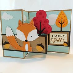 What Does the Fox Say? Card made with my Silhouette machine.