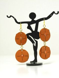 Florence Italy, Etsy Shop, Drop Earrings, Orange, Metal, Gold, How To Make, Leather, Handmade