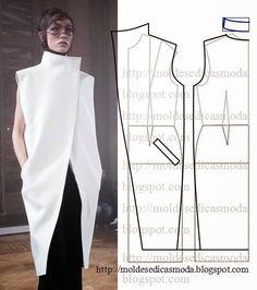 Plantillas de moda para Medida: TRANSFORMACIÓN DE ABRIGO
