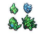 Pokemon X and Y Perler - Xerneas / Yveltal / Zygarde - Choose 1 or a set of 3 Pyssla Pokemon, Hama Beads Pokemon, Pokemon Craft, Mega Pokemon, Hama Beads Minecraft, Mini Hama Beads, Modele Pixel Art, Pixel Beads, Fusion Beads