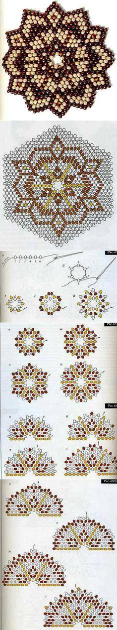 Техника плетения плотного круга из бисера | Украшения своими руками | Постила