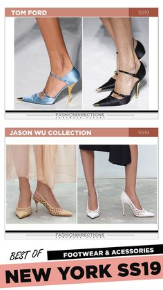 #nyfw #2018 #ss19 #bestof #womens #footwear #shoes #handbags #trends #fashion #accessories #fashiondirections #tomford #jasonwu