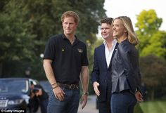 Support: The prince, pictured with US ambassador to the UK Matthew Barzun, is launching the Invictus Games