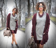 Lace and Leather. Кружево и кожа.  (by Galant-Girl Ellena) perfect color combo    necklace - Diana Broussard.  satchel - Proenza Schouler, PS1  sunglasses - AS...