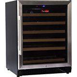 #3: Chateau CW542 220V SE 46 Bottle LED Display Glass Wine Cooler Refrigerator Black