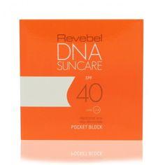 REVEBEL DNA SUNCARE SPF 40 7 ml. Kiinteä aurinkosuojavoide taskukokoisessa rasiassa.