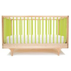 Babybett Caravan Crib Natur/grün