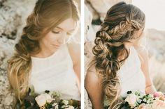 {12 peinados llenos de estilo con recogidos y trenzas para novias e invitadas}…