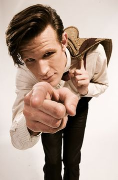 Matt Smith as the eleventh doctor. He's so cute!!