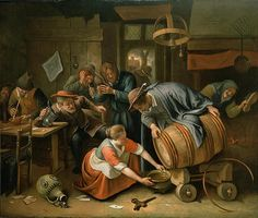 The Last Drop Jan Havicksz Steen Baroque Painting, Dutch Golden Age, Dutch Painters, Body Drawing, Medieval Armor, Famous Art, In Vino Veritas, Italian Renaissance, Dutch Artists
