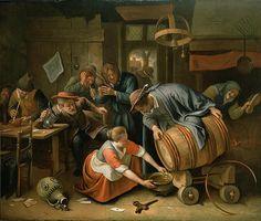 The Last Drop Jan Havicksz Steen Baroque Painting, Dutch Golden Age, Dutch Painters, Medieval Armor, Body Drawing, Famous Art, In Vino Veritas, Dutch Artists, Italian Renaissance