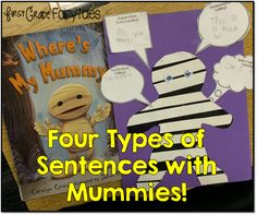 4 Types of Sentences: Mummy Style! {freebie} (First Grade Fairytales)