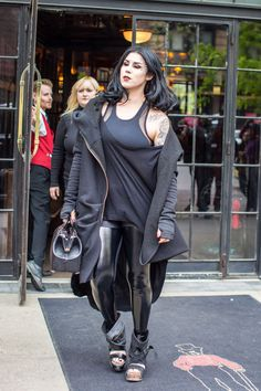 Kat Von D out in SoHo