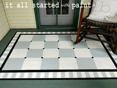 this is what I want to do to my front porch!  A painted rug....fabulous