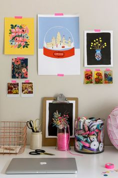 Rifle Paper Co prints in Papermash home office.