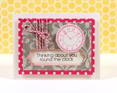Card by @Kristina Werner using American Crafts POW Glitter Paper!