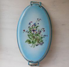 ANTIQUE French ENAMELED DISH with small by TheFrenchEvolution