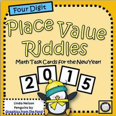 Place Value Riddles for 2015 - a Freebie for You!