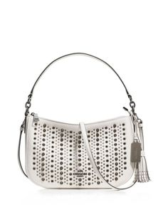 b54a7929c0 COACH All Over Studs Chelsea Crossbody in Pebble Leather Handbags -  Bloomingdale's